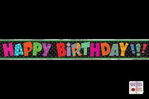 Quirky Happy Birthday Foil Banner