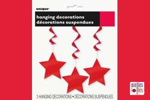 Red Hanging Star Decorations