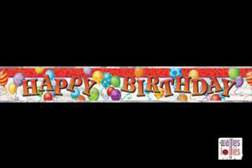 Red Happy Birthday Foil Banner