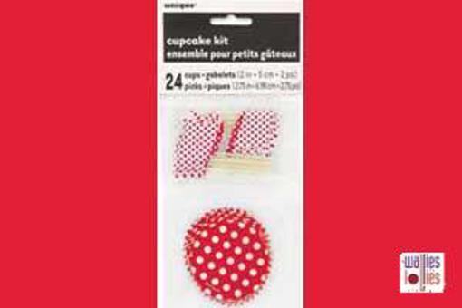 Red Spot Cupcake Kit