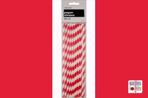 Red Stripe Straws