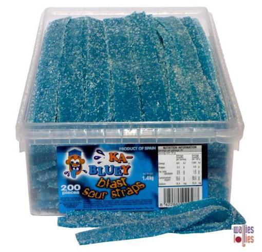 SOUR STRAPS - KA-BLUEY -1.4KG BOX
