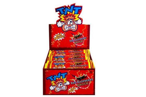TNT RASPBERRY  SHOCK CHEW BARS 50 PACK - PRE ORDER