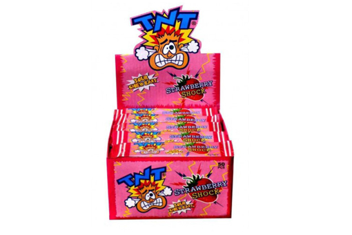 TNT STRAWBERRY SHOCK CHEW BARS 50 PACK - PRE ORDER