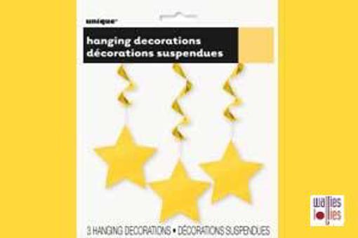Yellow Hanging Star Decorations