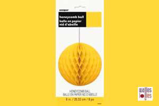Yellow Honeycomb Ball