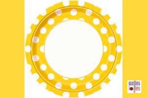 Yellow Spot Large Plates