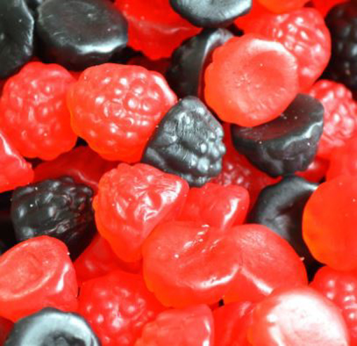 Picture of Gummy Blackberries & Raspberries in 200g bag