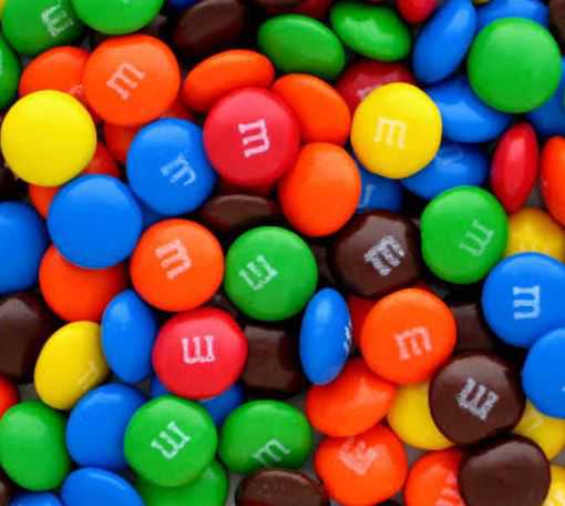 Picture of M&M's in 10kg carton