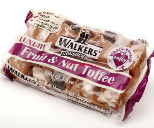 Picture of Walker's Fruit & Nut Toffee Bar - 100g