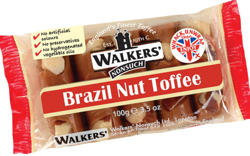 Picture of Walker's Brazil Nut Toffee Bar - 100g