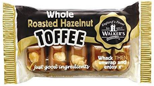 Picture of Walker's Roasted Hazelnut Toffee Bar - 100g