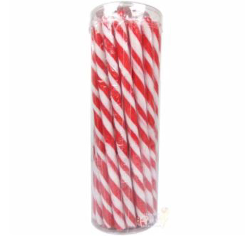 Picture of Candy Poles Red & White -  Tub of 30 pcs