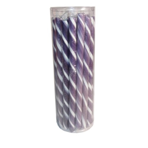 Picture of Candy Poles Purple & White -  Tub of 30 pcs