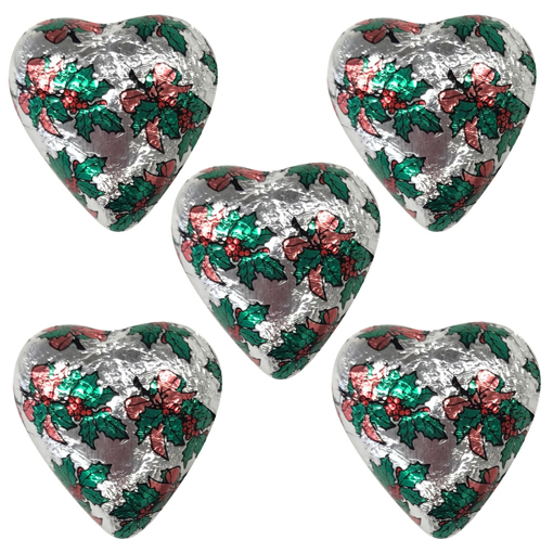 Picture of Silver Christmas Foiled Hearts in 500g Bag (PRE-ORDER)