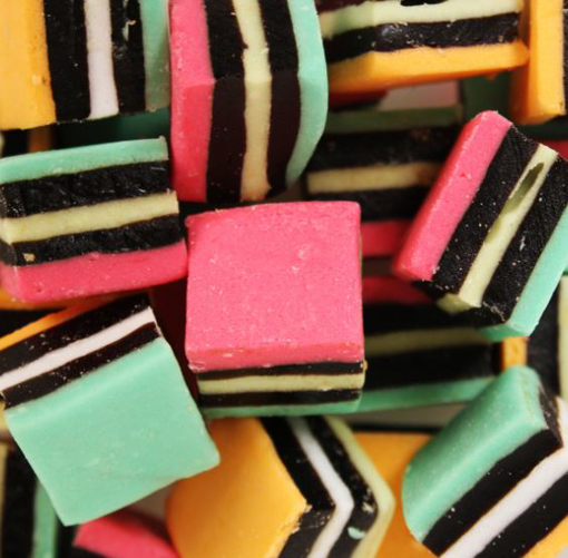 Picture of Licorice allsorts in 1kg bag