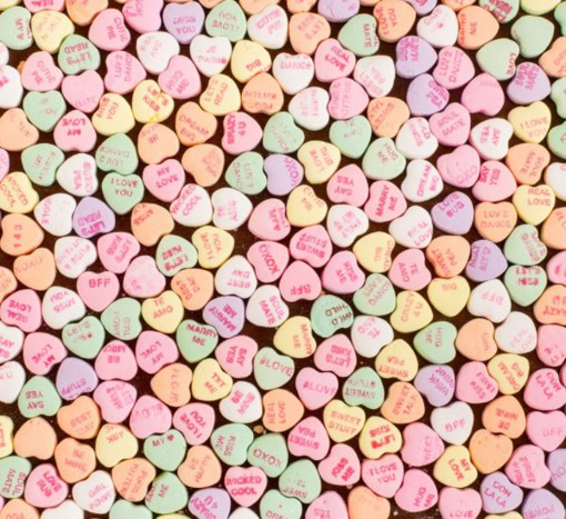 Picture of Mini Conversational Hearts in 1kg bag