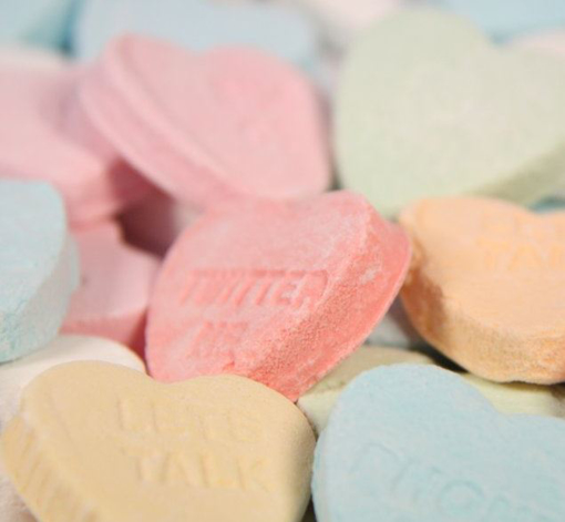 Picture of Large  Conversational Hearts in 1kg bag