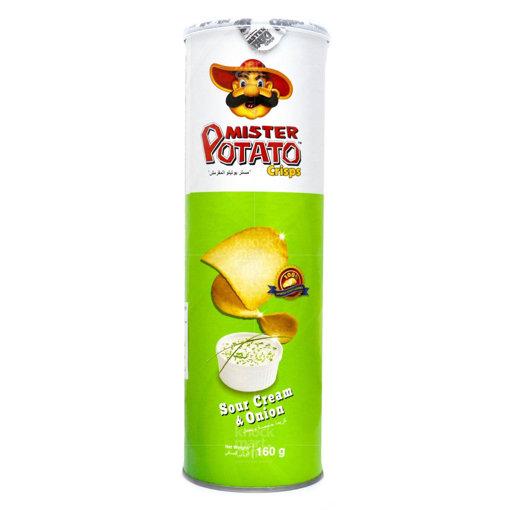 Picture of MISTER Potato Crisps Sour Cream & Onion 160g