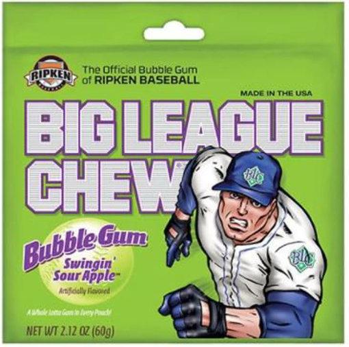 Picture of BIG LEAGUE CHEW - Sour Apple Bubble Gum