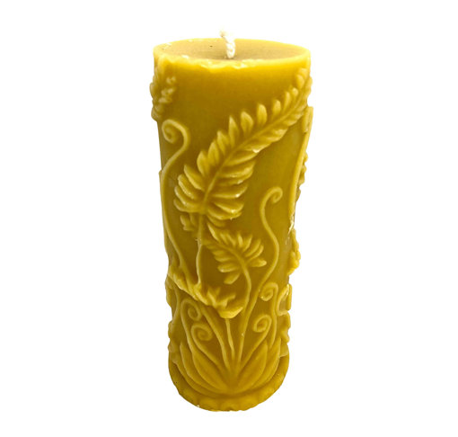 Picture of Flora Pattern Beeswax Candle