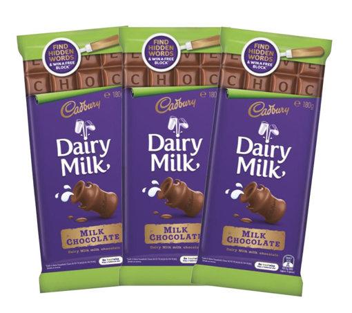 Picture of Cadbury Dairy Milk Blocks 180g - 3 Blocks