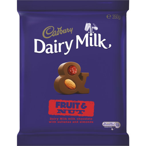 Picture of Cadbury Fruit & Nut Block 350g