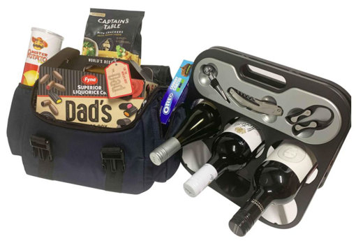 Picture of Fathers Day Hamper with FREE WINE RACK (wine not included)